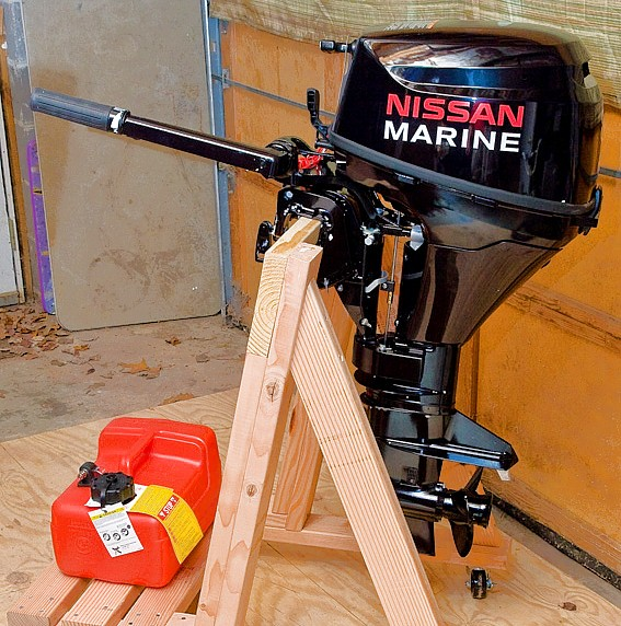 Build your own portable outboard motor stand
